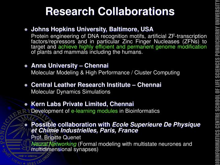 Research Collaborations