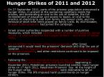 hunger strikes of 2011 and 2012