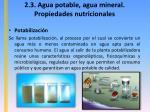 2 3 agua potable agua mineral propiedades nutricionales4