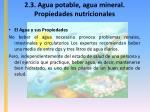 2 3 agua potable agua mineral propiedades nutricionales8