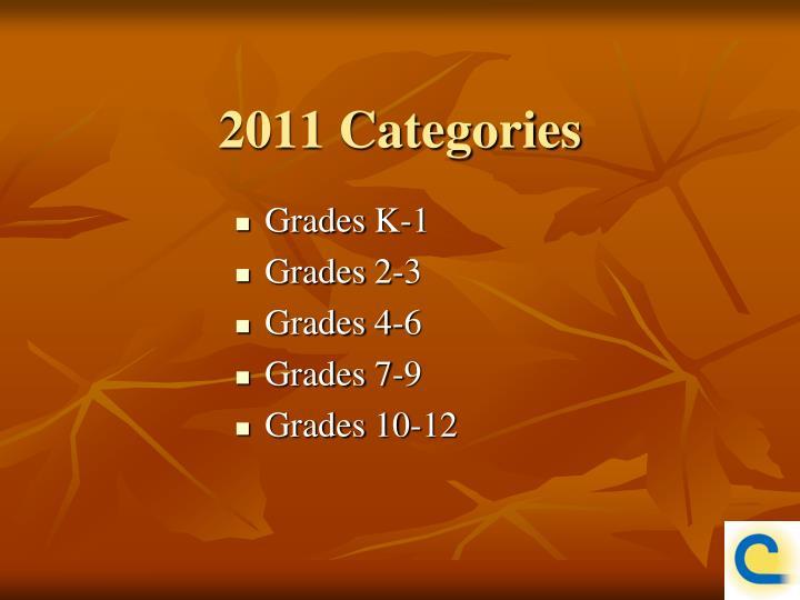 2011 Categories