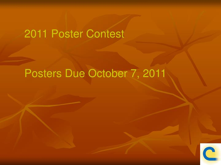 2011 Poster Contest