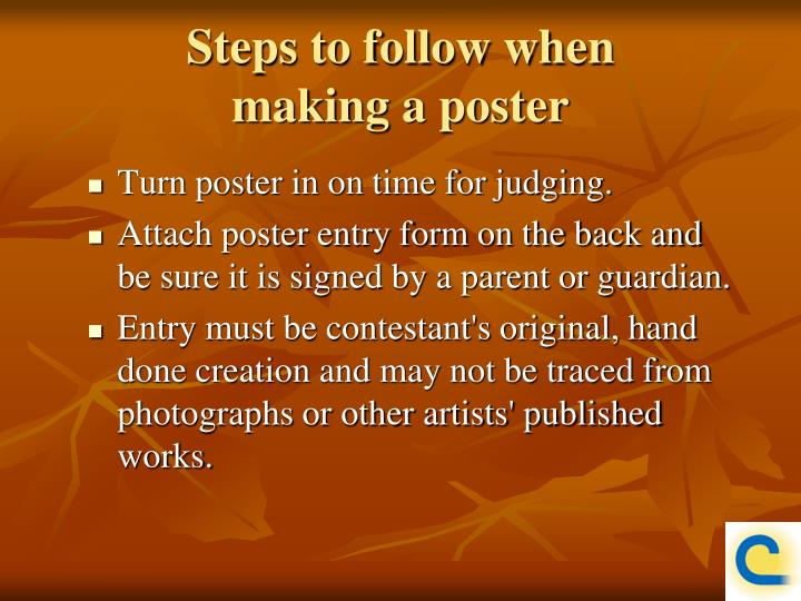 Steps to follow when