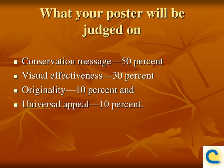 What your poster will be
