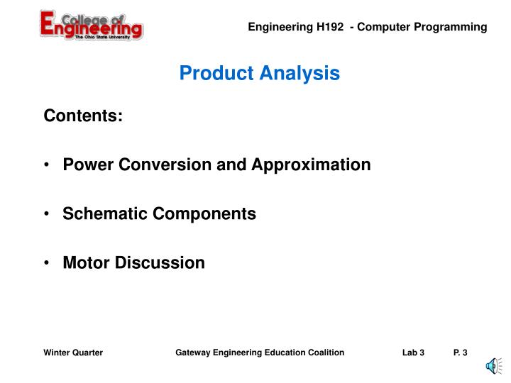 Product analysis1