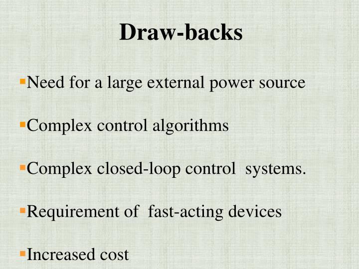 Draw-backs