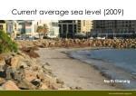current average sea level 2009