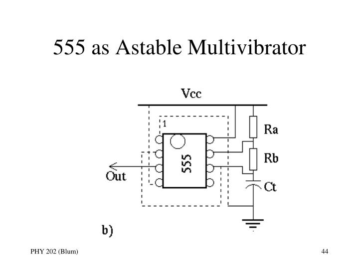 555 as Astable Multivibrator