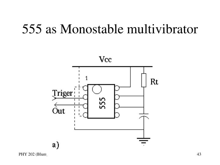 555 as Monostable multivibrator