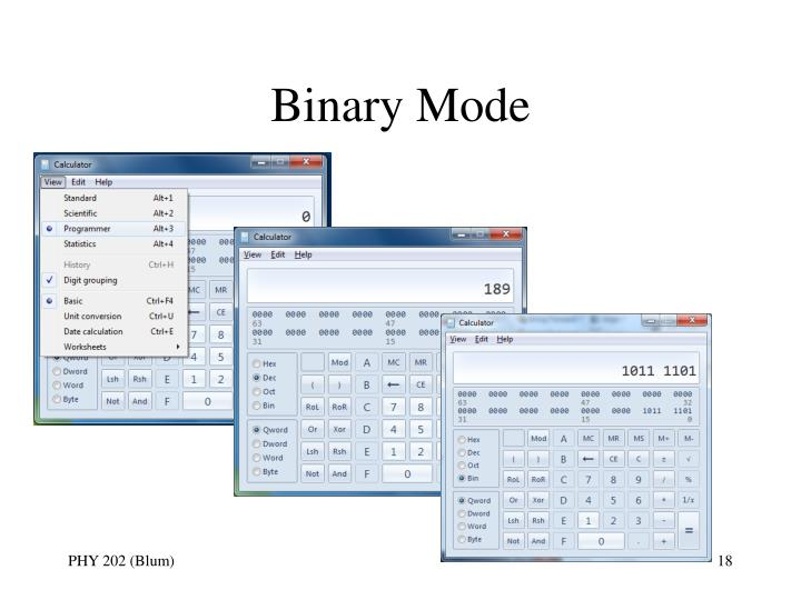 Binary Mode