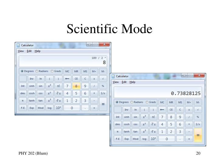 Scientific Mode