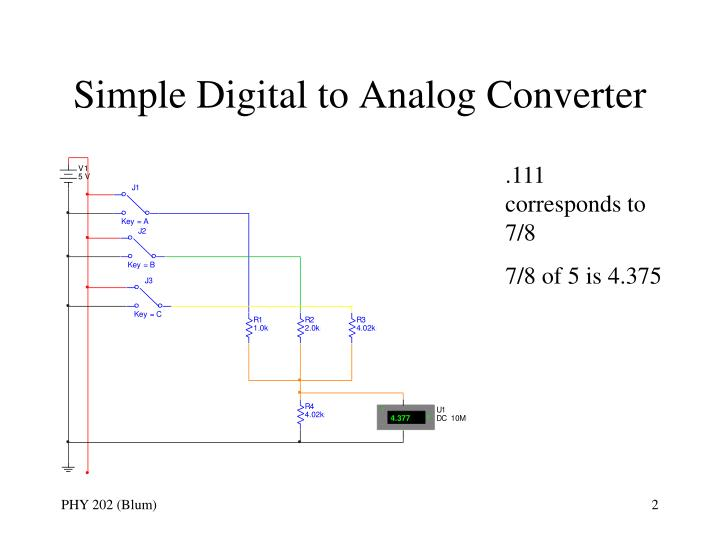 Simple digital to analog converter