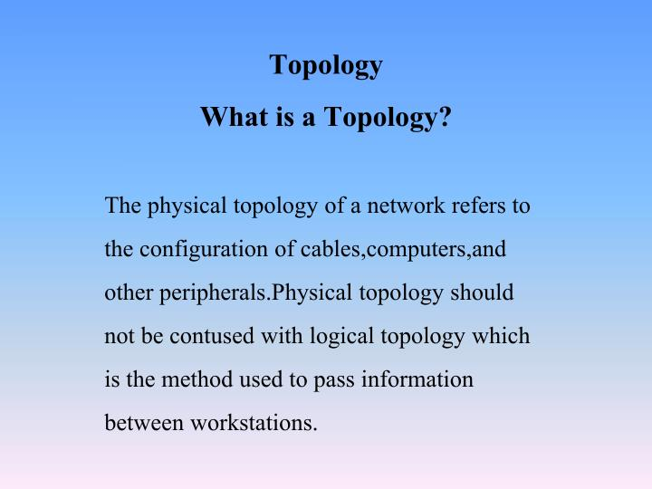 topology what is a topology n.