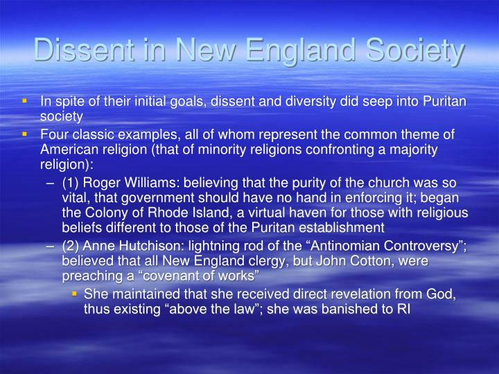 Dissent in New England Society