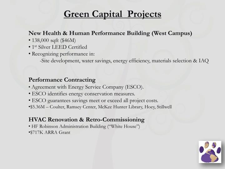 Green Capital  Projects