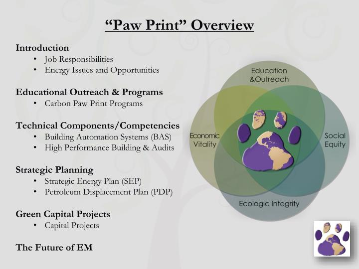 Paw print overview