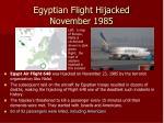 egyptian flight hijacked november 1985