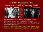 iranian hostage crisis november 1979 january 1981