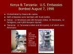 kenya tanzania u s embassies bombed august 7 1998