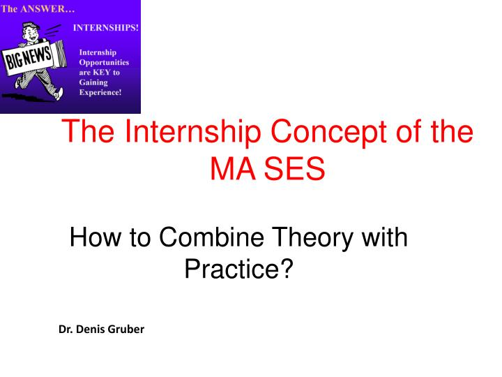 the internship concept of the ma ses n.