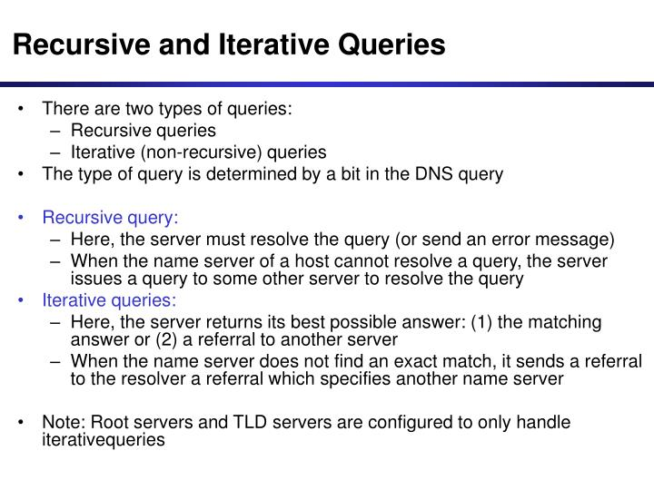 Recursive and Iterative Queries