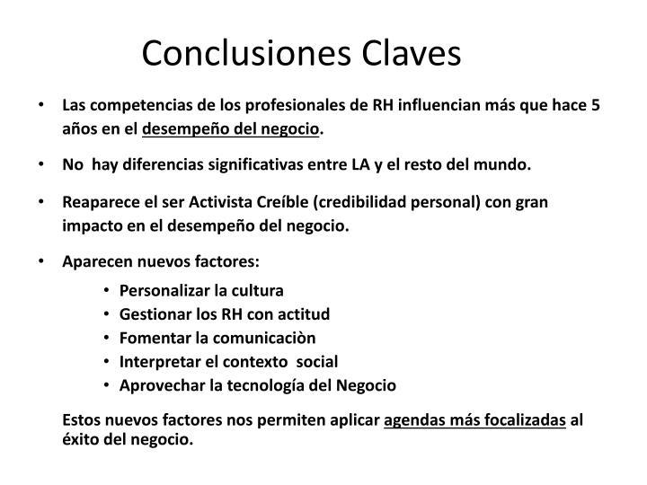 Conclusiones Claves
