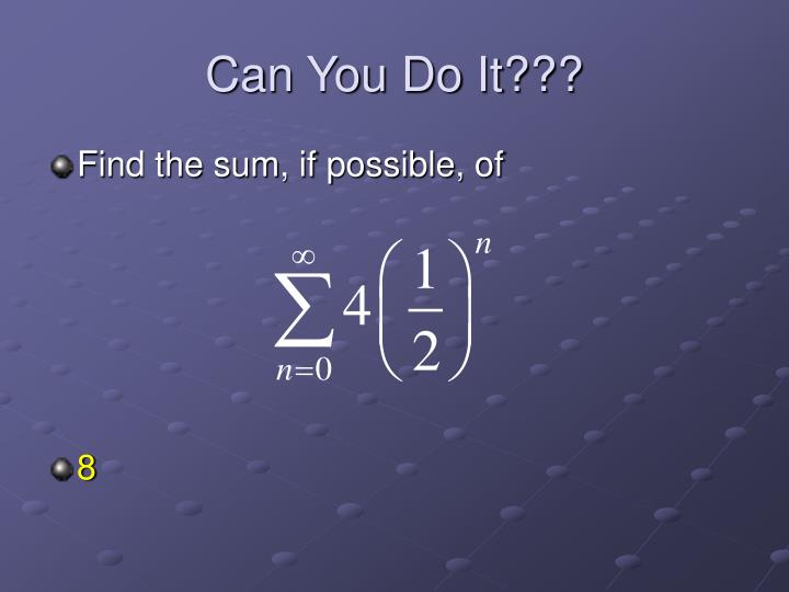 Can You Do It???