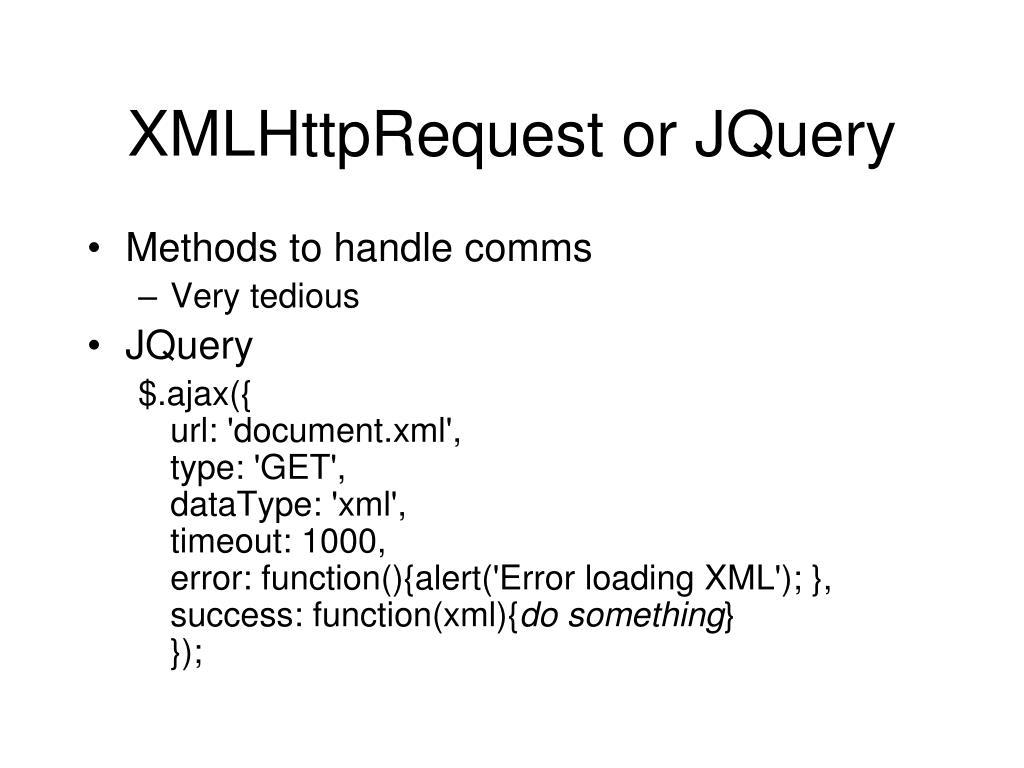 PPT - JQuery, JSON, AJAX PowerPoint Presentation - ID:3119623