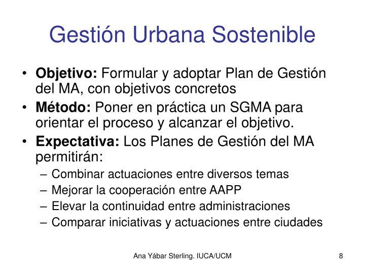 Gestión Urbana Sostenible
