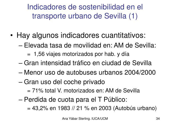 Indicadores de sostenibilidad en el transporte urbano de Sevilla (1)