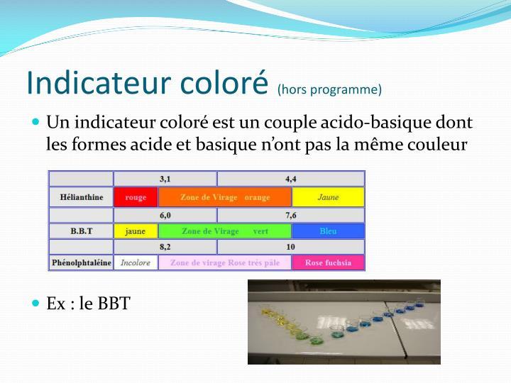 Indicateur coloré