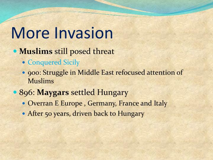 More Invasion