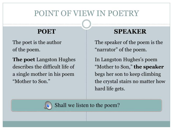 Point of view in poetry