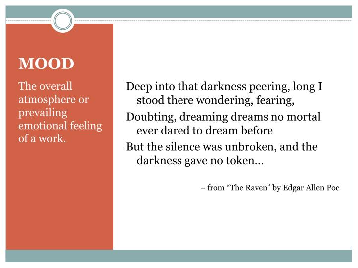 Deep into that darkness peering, long I stood there wondering, fearing,
