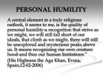 personal humility