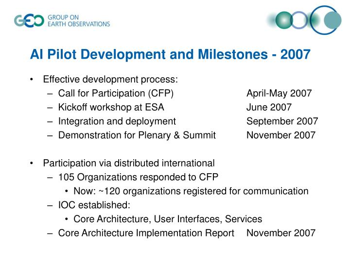 AI Pilot Development and
