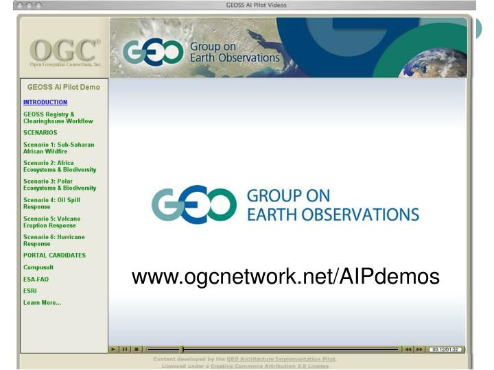 GEOSS AI Pilot Screencasts