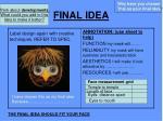 final idea