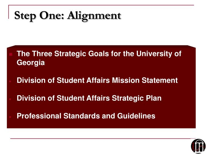 Step One: Alignment