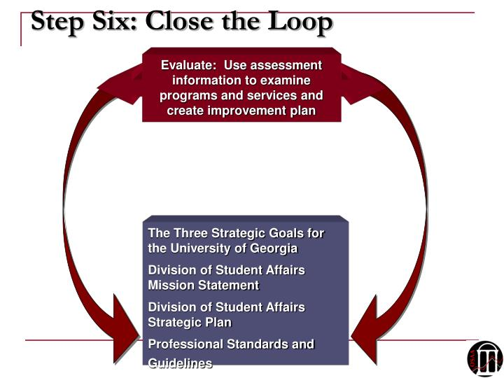 Step Six: Close the Loop