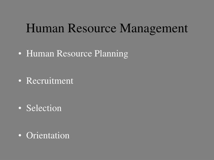 Human resource management1