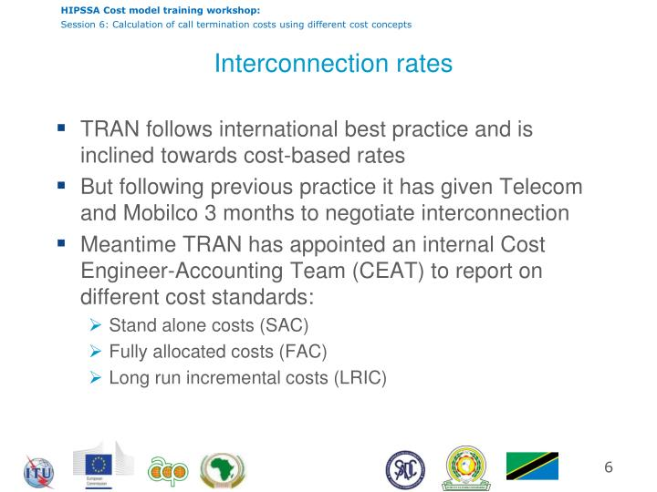 Interconnection rates