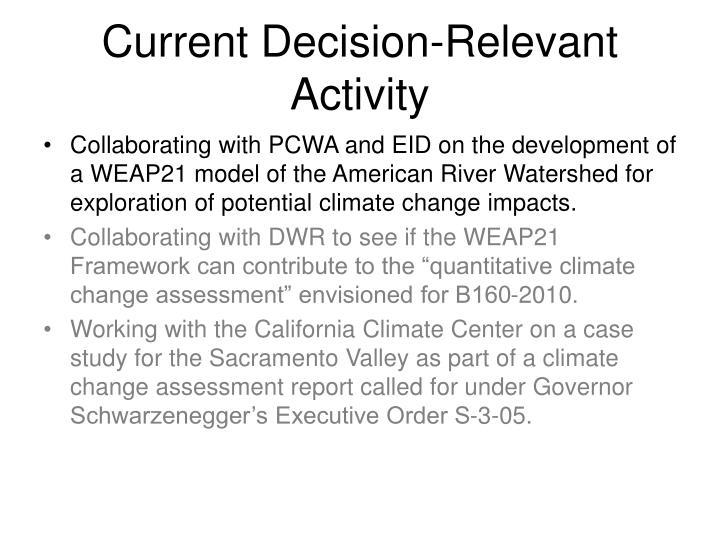Current Decision-Relevant Activity