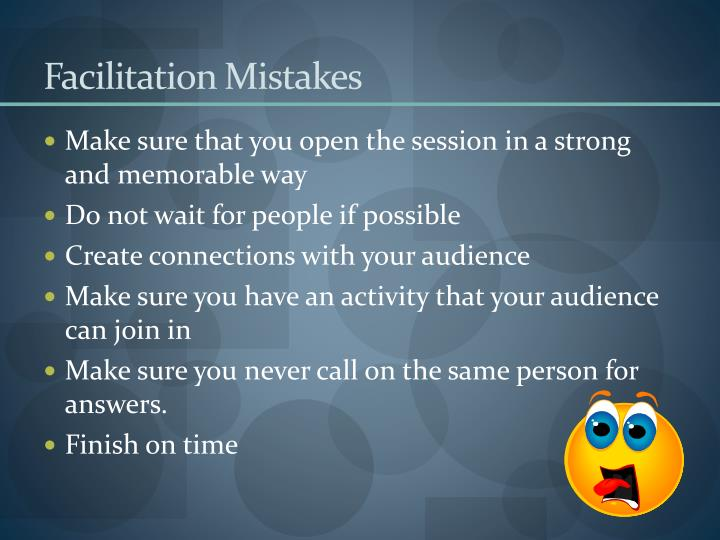 Facilitation mistakes
