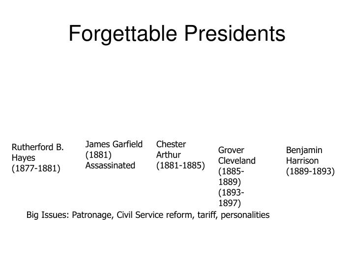 Forgettable Presidents
