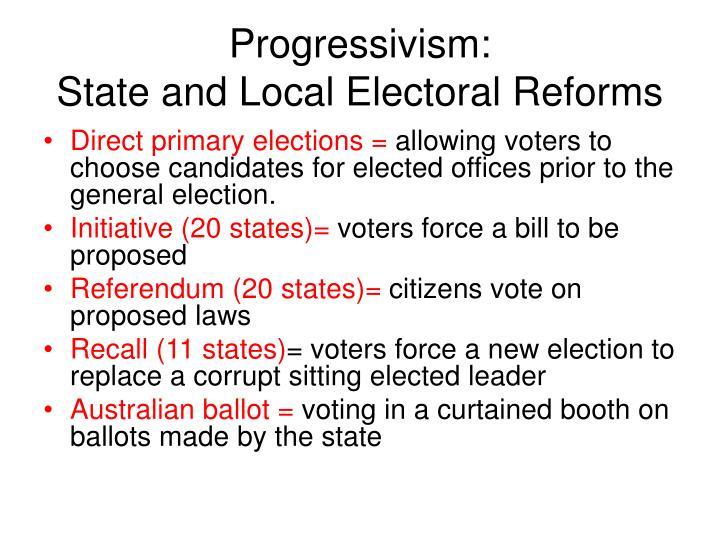 Progressivism: