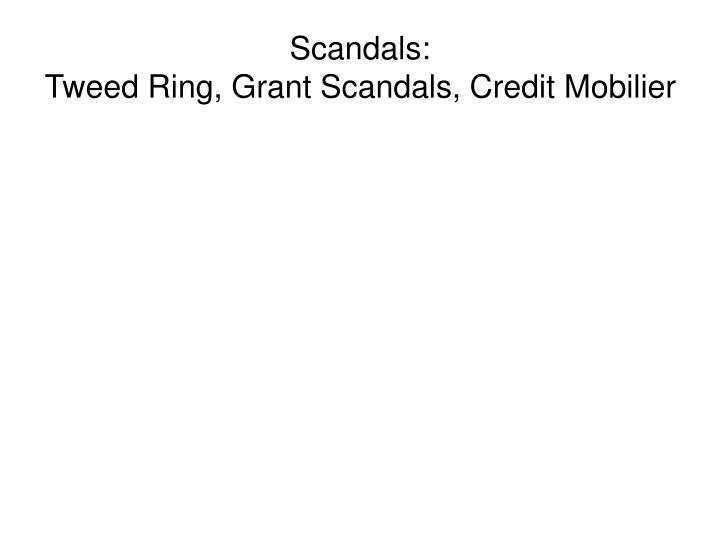 Scandals: