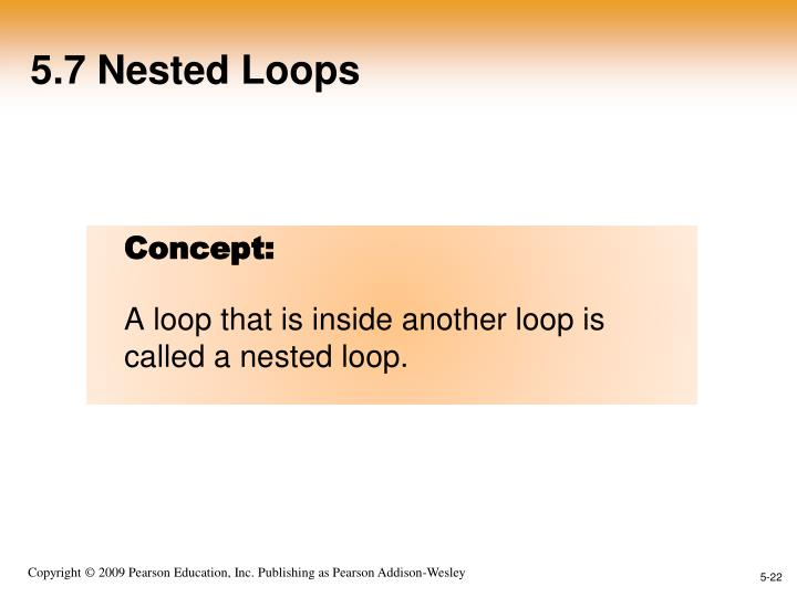 5.7 Nested Loops