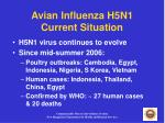 avian influenza h5n1 current situation