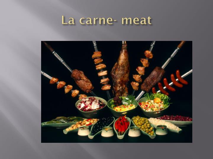 La carne- meat